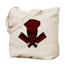 Chef Skull--dark red-- Tote Bag