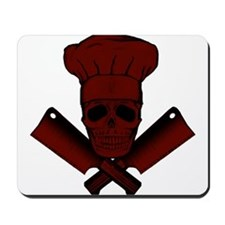 Chef Skull--dark red-- Mousepad