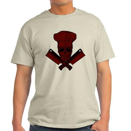 Chef Skull--dark red-- Light T-Shirt