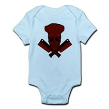 Chef Skull--dark red-- Infant Bodysuit