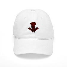 Chef Skull--dark red-- Baseball Cap