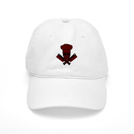 Chef Skull--dark red-- Cap