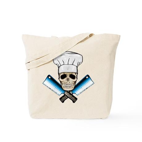 Chef Skull--Color 1-- Tote Bag