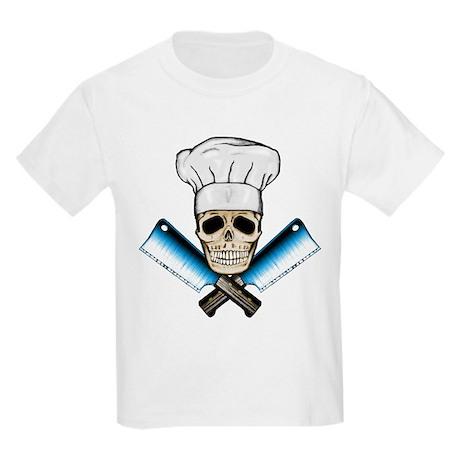 Chef Skull--Color 1-- Kids Light T-Shirt