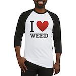 I Love Weed Baseball Jersey