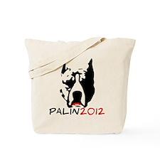 Pitbull with Lipstick - Palin 2012 Tote Bag