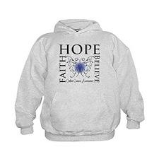 Colon Cancer Hope Believe Hoodie