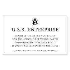 U.S.S. Enterprise Plaque Decal
