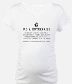 U.S.S. Enterprise Plaque Shirt