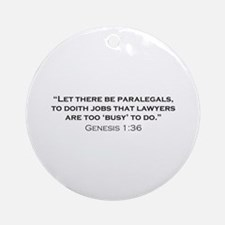 Paralegal / Genesis Ornament (Round)