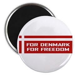 Denmark For Freedom Magnet