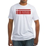 Denmark For Freedom Fitted T-Shirt