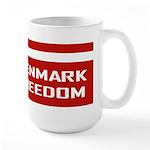 Denmark For Freedom Large Mug