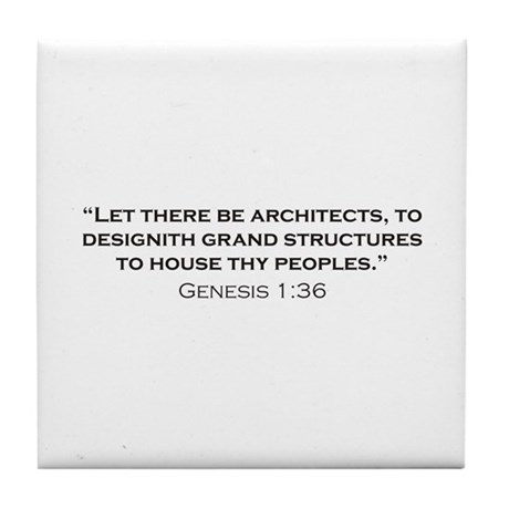Architect / Genesis Tile Coaster