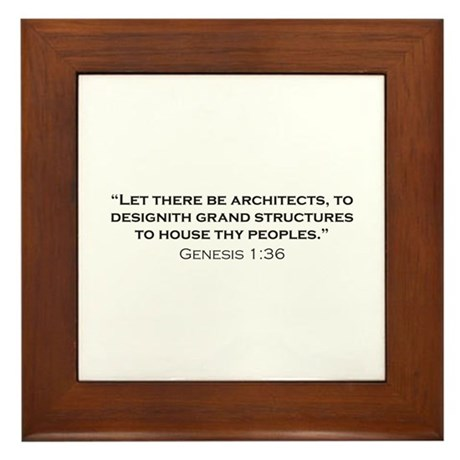 Architect / Genesis Framed Tile