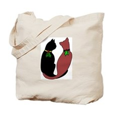 Holiday Cats Tote Bag