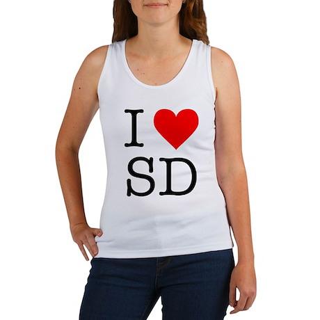 I ? SD (san diego) Women's Tank Top