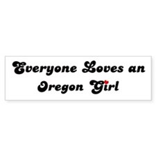 Loves Oregon Girl Bumper Bumper Sticker