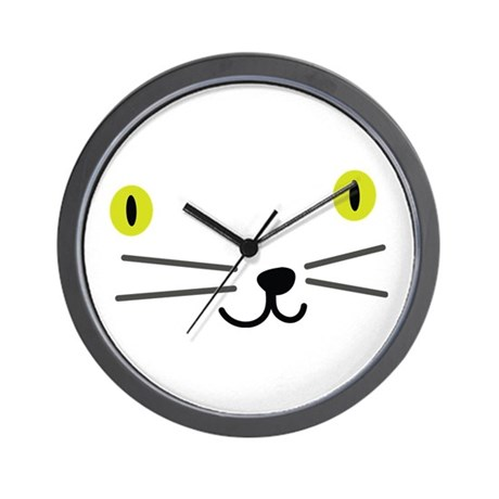 CRAZYFISH kittie Wall Clock
