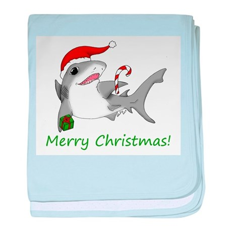 Christmas Shark baby blanket