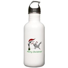 Christmas Shark Water Bottle