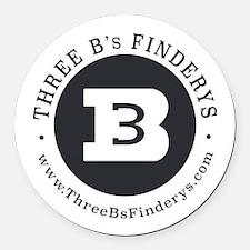 Three B's Round Car Magnet
