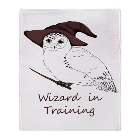 Wizard owl Throw Blanket
