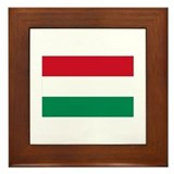 Hungary flag Framed Tiles