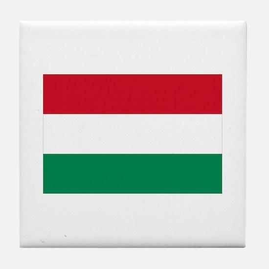 Hungary flag Tile Coaster