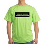 The Real Difference: Liberals Green T-Shirt