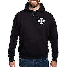 White Maltese Cross Hoodie
