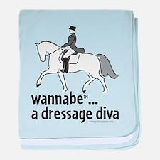 wannabe ... a dressage diva baby blanket