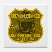 Chem Engineer Caffeine Addiction Tile Coaster