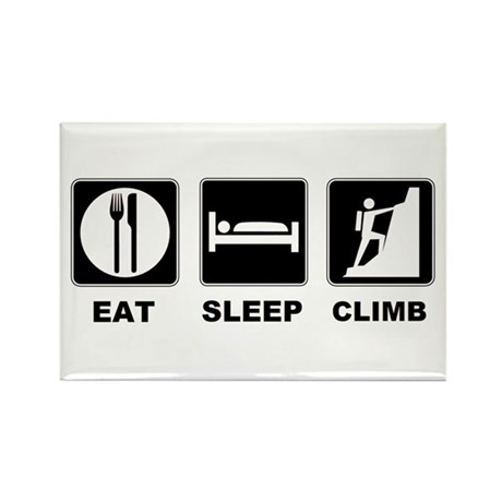 eat seep climb Rectangle Magnet