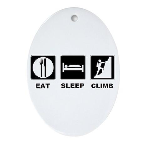 eat seep climb Ornament (Oval)