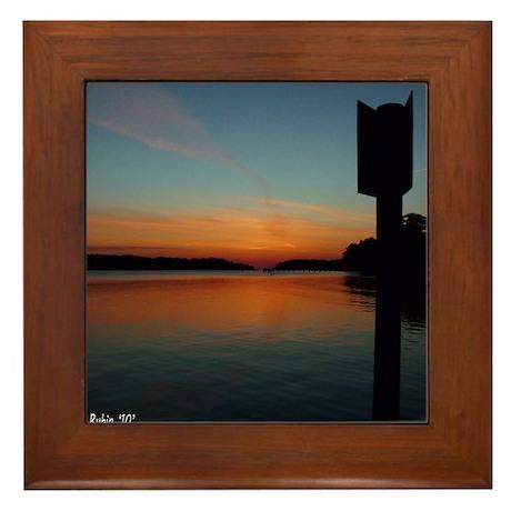 SUNRISE ON THE BAY Framed Tile