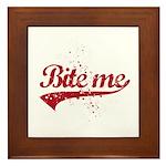 Bite Me Framed Tile
