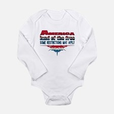 America Land of the Free... Long Sleeve Infant Bod