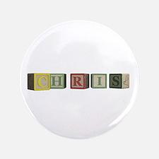 "Chris Alphabet Block 3.5"" Button (100 pack)"