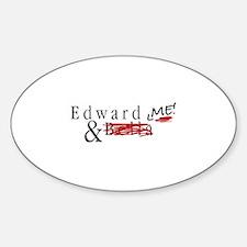 Edward & Me Sticker (Oval)