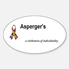 Autism/Asperger's Awareness Oval Bumper Stickers
