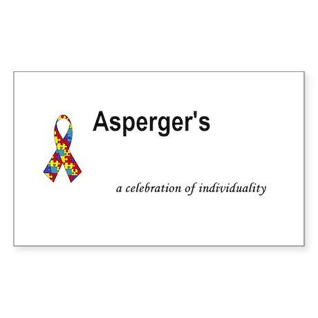 Autism/Asperger's Awareness Rectangle Sticker
