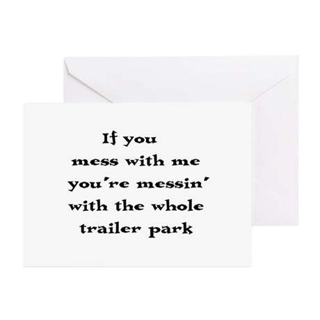 Mess with me... Greeting Cards (Pk of 10)