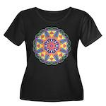 A Colorf Women's Plus Size Scoop Neck Dark T-Shirt