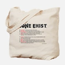 None Exist(TM) tote bag explanation front only.