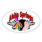 Abita Springs Oval Sticker