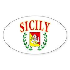 Sicilian Pride Oval Bumper Stickers