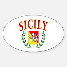 Sicilian Pride Oval Decal