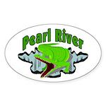 Pearl River Oval Sticker