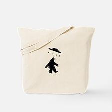 Bigfoot and UFO Tote Bag